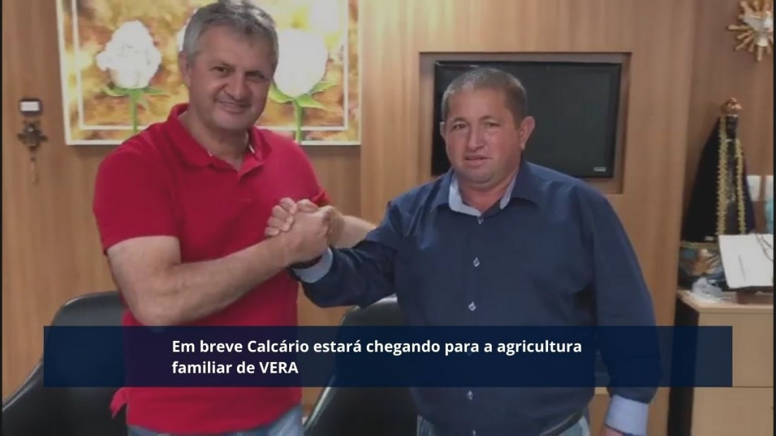 O pedido de calcário feito pelo presidente Donizete Panizon e vereadores foi atendido